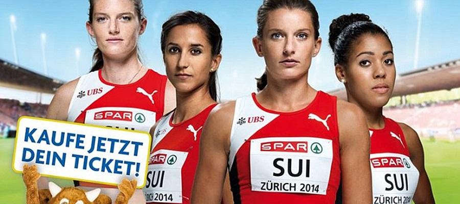 Il marchio Spar al Campionato Europeo di Atletica leggera a Zurigo