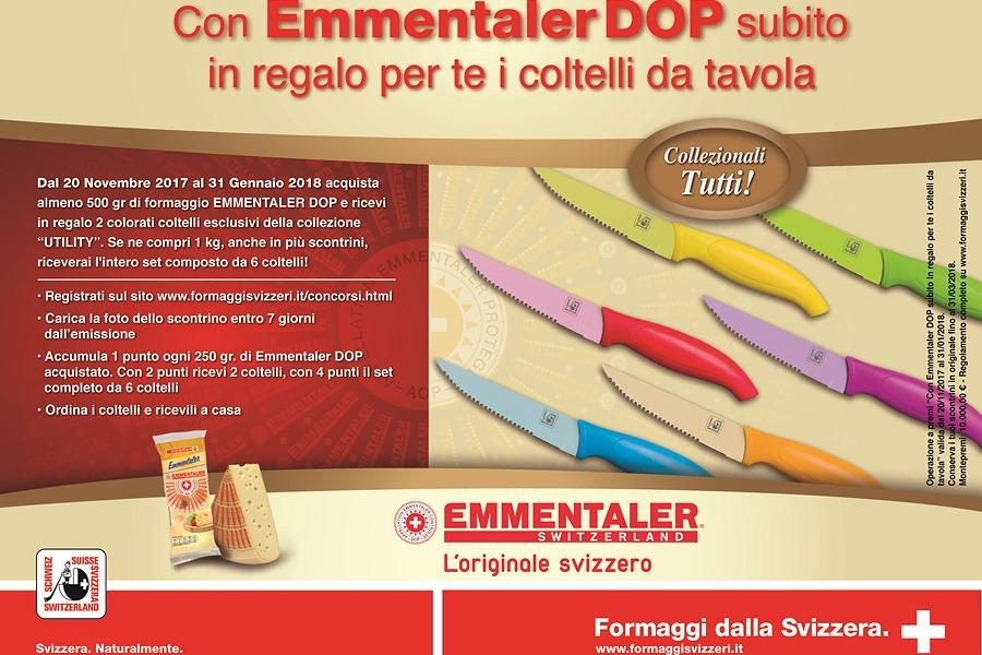 Con Emmentaler DOP subito in regalo per te i coltelli da tavola